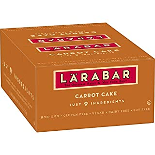 Larabar, Fruit & Nut Bar, Carrot Cake, Gluten Free, Vegan (16 Bars)