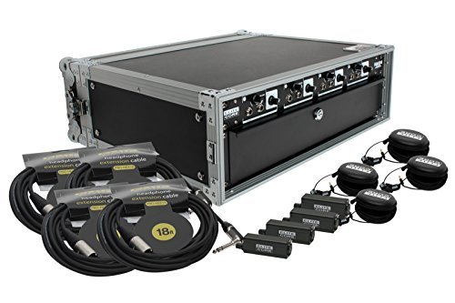 Elite Core 4 Channel Headphone/Line Distribution Amp Deluxe 4 User w/ Rack Case (Volume Control on Packs)