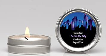sex in the city bridal shower candle favors