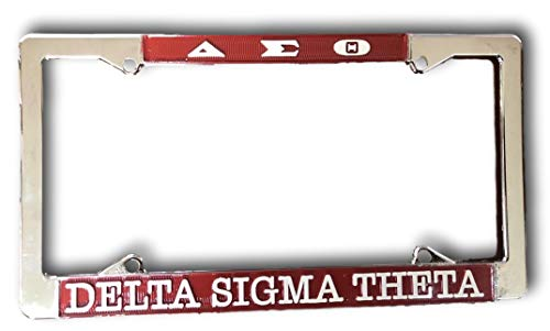 Delta Sigma Theta Sorority Chrome Silver License Plate Frame
