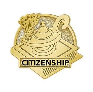Citizenship Lapel Pins 100 Pack Crown Awards Citizenship Award Lapel Pins