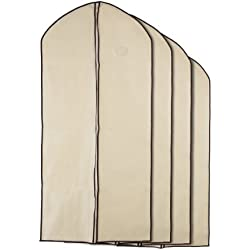 Home Zone - Breathable Garment Bag Clothes Covers - Coffee & Cream Finish - Medium (90cms 60cms) by Home Zone