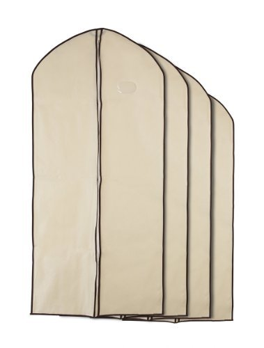 Large Garment (Home Zone - Breathable Garment Bag Clothes Covers - Coffee & Cream Finish - Large (130cms 60cms) by Home Zone)