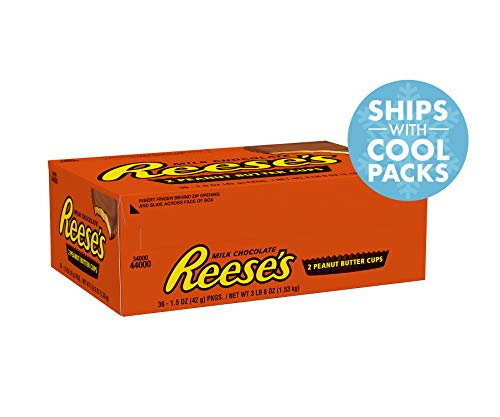 Reese's Peanut Butter Cups Candy, Chocolate 1.5 oz Packages (Pack of 36)