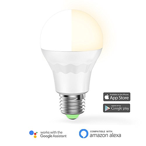 MagicLight WiFi Smart Light Bulb, Tunable, Soft White To Daylight (2700K-6500K), 60w Equivalent Dimmable Sunrise A19 Smart Light Bulb, No Hub Required, Compatible with Alexa & Google Home Assistant