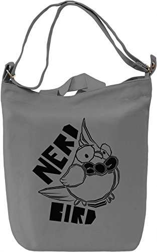Nerd Bird Borsa Giornaliera Canvas Canvas Day Bag| 100% Premium Cotton Canvas| DTG Printing|