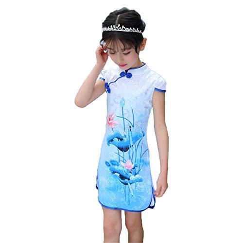 Cheongsam Qipao Akaayuko 79 Child vestido Girl Summer chino wxqOqz1F