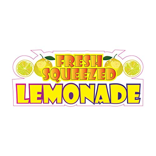 Die-Cut Sticker Multiple Sizes Fresh Squeezed Lemonade Style C Restaurant & Food Fresh Indoor Decal Concession Sign White - 14in Longest Side