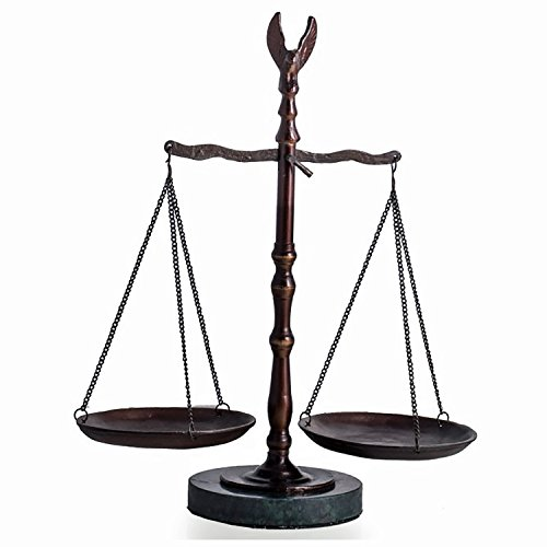 Lawyers & Legal - Scales of Justice Sculpture with Eagle Finial - Lawyer Gifts ()
