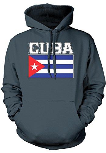 Amdesco Men's Cuban Flag, Flag of Cuba Hooded Sweatshirt, Ch