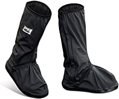 [Veini] シューズカバー 靴カバー レインシューズ 完全防水 滑り止め 履きやすい レインブーツカバー 折りたたみ 携帯 雨具 雨よけ 男女兼用 無地 ショート丈