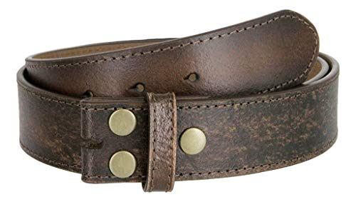 "Classic Vintage Casual Jean Leather Belt Strap (M(33""-35""), Dark Brown)"
