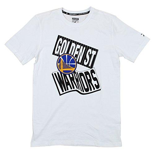 Zipway Golden State Warriors NBA Mens Pennant Short Sleeve T-Shirt, White