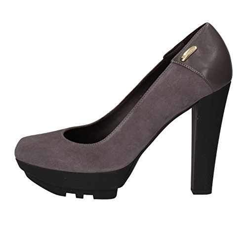 - Cesare Paciotti 4US Pumps-Shoes Womens Suede Grey 10.5 US