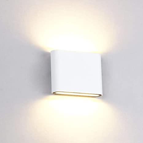 e89a5c5f946d Thinkis LED Wall Lamp White Modern Style Aluminum 6W Up Down Wall Lights Be  Applicable Bedroom