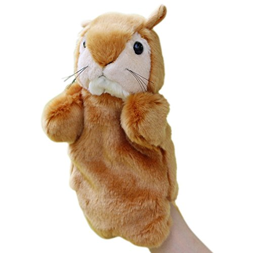 Happy Cherry Kids Puzzle Toys Story Game Education Props Baby Toys Squirrel Plush Hand Puppet Animal Hand Dolls