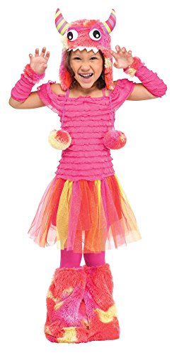 [Fun World Costumes Baby Girl's Wild Child Toddler Costume, Pink, Large(3T-4T)] (Girls Monster Halloween Costumes)