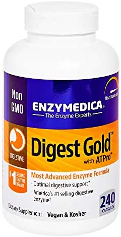 Enzymedica - Digest Gold with ATPro, Daily Digestive Support Supplement with Enzymes and ATP, 240 Capsules (FFP) 1