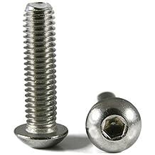 Bolt Base 5mm A2 Stainless Steel Hex Socket Button Head Allen Bolt Screw M5 X 16 - 100