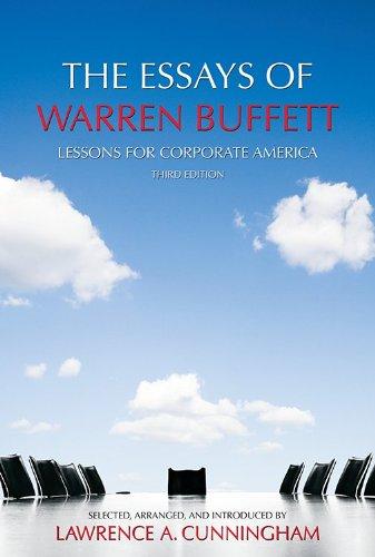 The essays of warren buffett dissertation assistance newsletter com