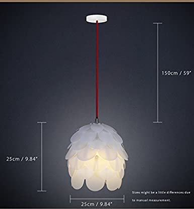 HROOME DIY Kit Pinecone Shape Puzzle Lampshade Suspension Ceiling Pendant Chandelier Light Shade Lamp For Club Living Room Bedroom Study Dining Room Decor ...