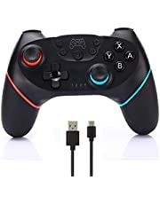 CuleedTec Wireless Switch Pro Controller Gamepad Joystick for Nintendo Switch Console, with Gyro and Gravity Sensor, Dual Vibration, Turbo Function and Capture Function (No NFC and Wake-up Function)