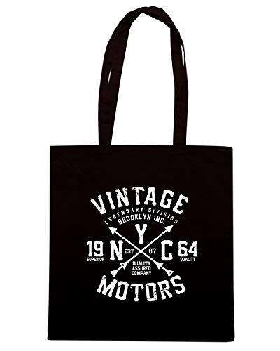 Borsa motors Shirt TB0489 Speed Nera vintage Shopper FvT5Ynqq1w