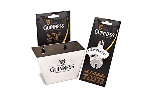 Guinness Wall Mount Bottle Opener and Cap Catcher Set ()