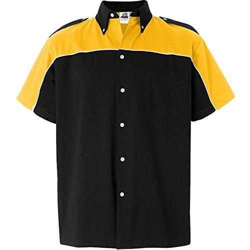Hilton Cyclone Bowling Shirt - Gold & Black Cruisin Usa Bowling Shirts