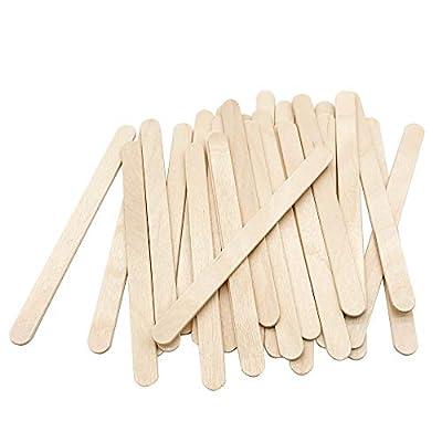 "200 Pcs Craft Sticks Ice Cream Sticks Natural Wood Popsicle Craft Sticks 4-1/2"" Length Treat Sticks Ice Pop Sticks for DIY Crafts"