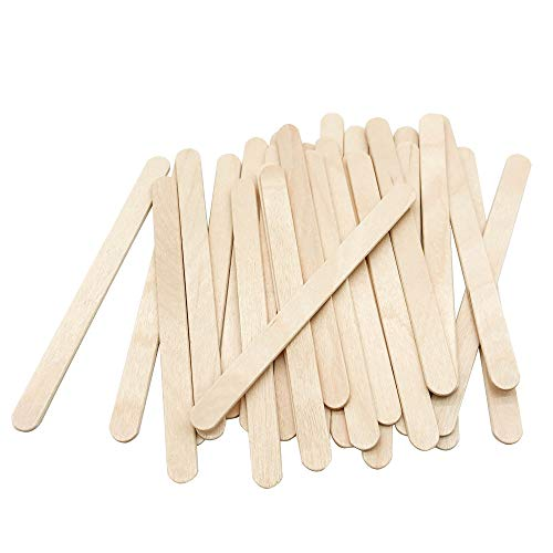 (200 Pcs Craft Sticks Ice Cream Sticks Natural Wood Popsicle Craft Sticks 4-1/2