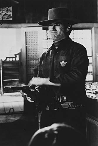 Clint Eastwood Firing Off Gun Hang 'Em High 24x18 Poster