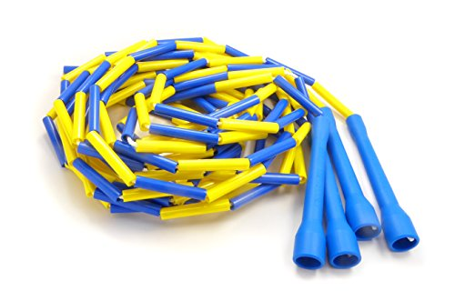 14' Rope (Buy Jump Ropes Beaded Double Dutch Jump Rope, Blue/Yellow)