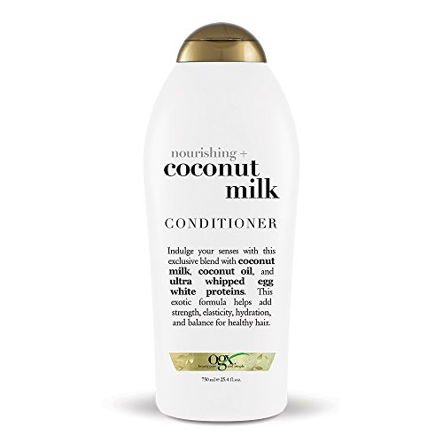 OGX Nourishing Conditioner, Coconut Milk, Salon Size, (1) 25.4 Ounce Bottle, paraben Free, Sulfate Free, Sustainable Ingredients, Hydrating and Strengthening