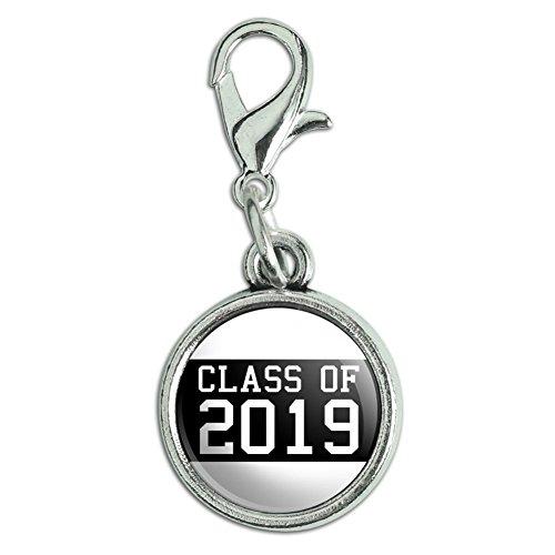 Antiqued Bracelet Charm with Lobster Clasp Graduation Graduating Class of - 2019 Graduation