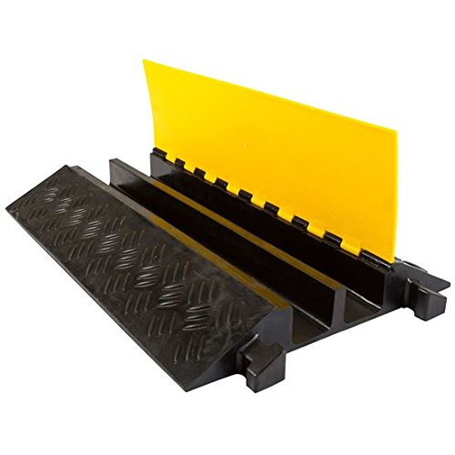 2 pack bundle of 2 channel heavy duty modular cable protector ramps buy online in uae. Black Bedroom Furniture Sets. Home Design Ideas
