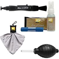 Nikon Cleaning Combo Kit: Nikon 3-Piece Lens Cleaning Kit + Spudz Microfiber Cloth + Lens Pen + Air Blower for Digital SLR Cameras, Lenses, Binoculars & Scopes