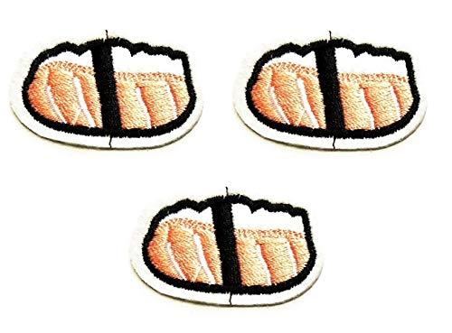 Nipitshop Patches Set Mini Sushi Kawaii Shrimp Nigiri Japanese Food Kids Cartoon Logo Jacket T Shirt Patch Sew Iron on Embroidered Sign Gift Costume