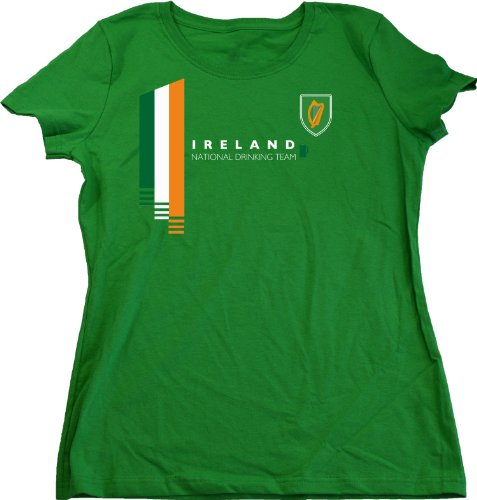 Ann Arbor T-Shirt Co. Women's Ireland National Drinking Team Cut T-Shirt