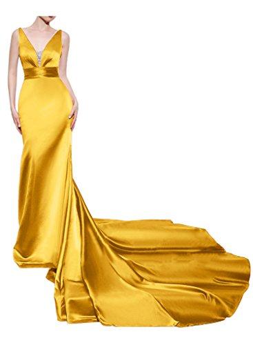 Missdressy - Vestido - cuello hálter - para mujer dorado