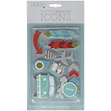 American Crafts 14 Piece Travel Icon Pack Die Cuts with a View Letterboards