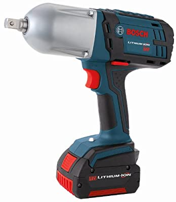 Bosch HTH181-01 18-Volt Lithium-Ion 1/2-Inch Square Drive Impact Wrench Kit with 2 Batteries, Charger and Case - Detent Pin