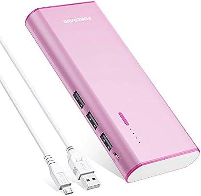 POWERADD Batería Externa Power Bank 10000mAh (3 USB, 5V 2A, Más ...