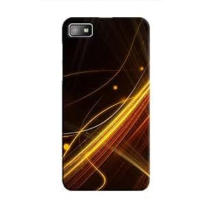 Cover It Up - Golden Lines BlackBerry Z10 Hard Case