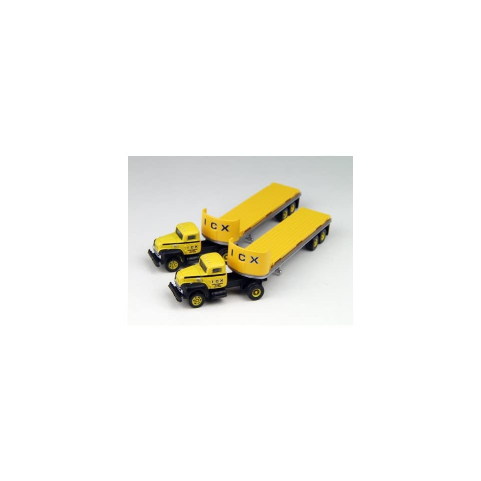 N Scale ICX R 190 Semi Tractor / 32 Flatbed Trailer (2)