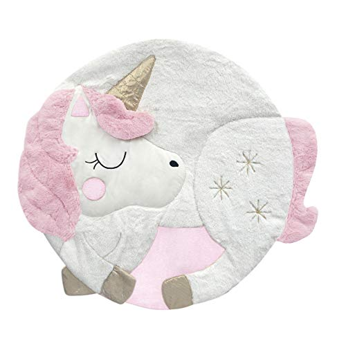 Lambs & Ivy Unicorn Interactive Baby Play Mat, Pink