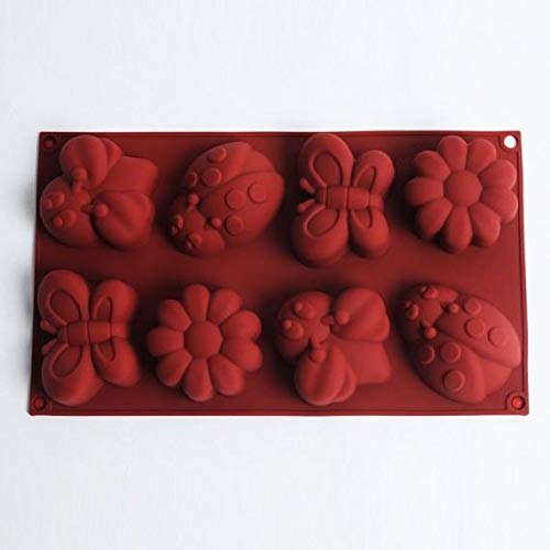 Cake Mold Butterfly Sunflower Flexible Silicone Mould For Candy Chocolate Soap