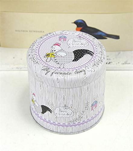 Storage Canisters for Tea Coffee Storage Jars Portable Cute Animal Pattern Tea Can Tinplate Box(Photo chicken) ()