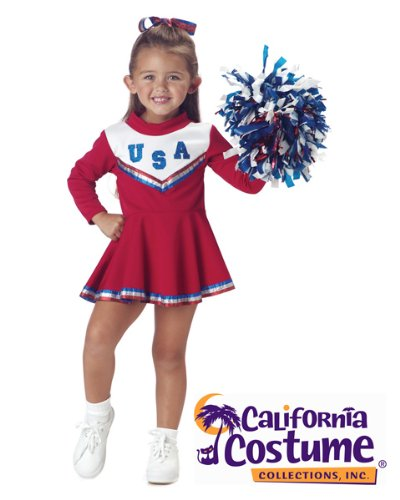 Patriotic Blue Cheerleader Toddler Costume Red -