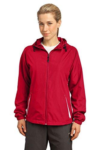 Sport Tek Ladies Colorblock Hooded Jacket. LST76-simple